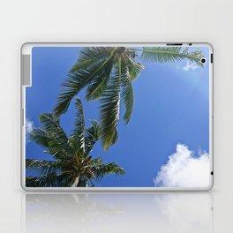 Palm trees, blue sky Laptop & iPad Skin