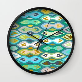 Sagar ikat Wall Clock