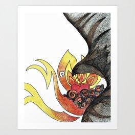 Ash and Flame Art Print