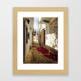 Streets of Greece Framed Art Print
