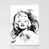 monroe Stationery Cards featuring Monroe by Ron Jones The Artist