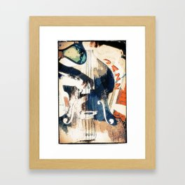 Double bass Jazz Poster Framed Art Print