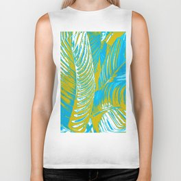 Colorful Leaves Lovely Turquoise #society6 #decor Biker Tank