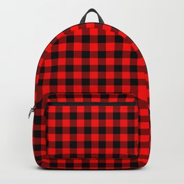 Australian Flag Red and Black Outback Check Buffalo Plaid Backpack