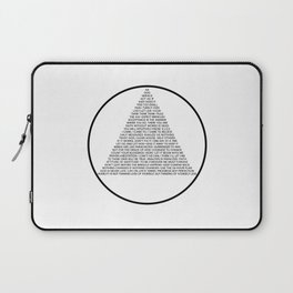 Alcoholics Anonymous Symbol in Slogans Laptop Sleeve