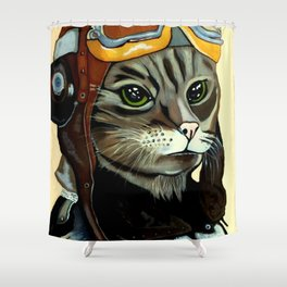 """Mike - Echo - Oscar - Whiskey"" MEOW Shower Curtain"