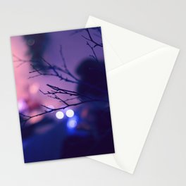 Twilight and lights Stationery Cards