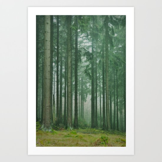 in the heart of forest Art Print