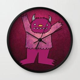 Violet Monster Wall Clock