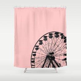 Ferris Wheel (Pink) Shower Curtain