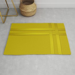 Yellow ribbon braiding Rug