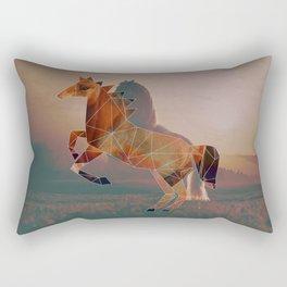 Horse with Horse Rectangular Pillow