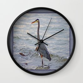 still here wading (square) Wall Clock