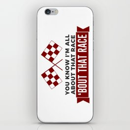 All About That Race Racing Cars Circuit iPhone Skin