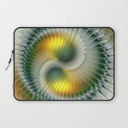 Like Yin and Yang, Abstract Fractal Art Laptop Sleeve
