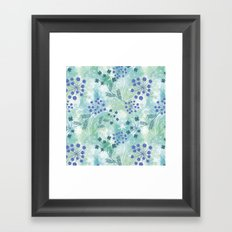 Abstract floral pattern. Framed Art Print