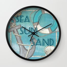 Sea and Shore 1 Wall Clock