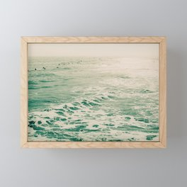 Summer Surf Framed Mini Art Print