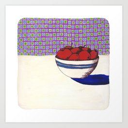 Fruit with Wallpaper Art Print