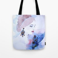 lady Tote Bags featuring Lady by S.Svetlankova