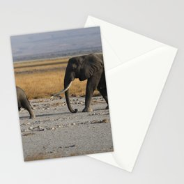 Kenia Elephants Stationery Cards