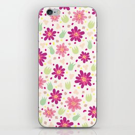 Purple and pink flowers iPhone Skin
