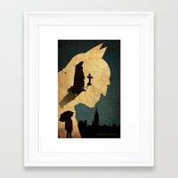 bat man Framed Art Prints featuring BAT MAN  by Edmond Lim