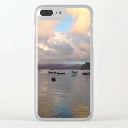Portree Harbour Clear iPhone Case