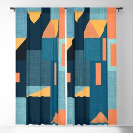 Yellow Klee houses Blackout Curtain