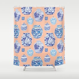 Chinoiserie Ginger Jar Collection No. 1 Shower Curtain