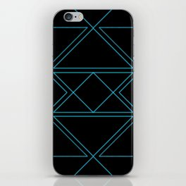 Electro Blue & Black iPhone Skin