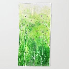 Beautiful Forest Beach Towel