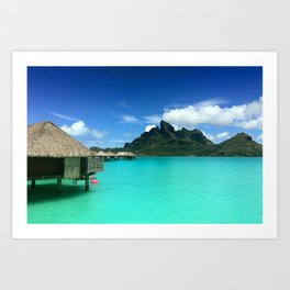 Bora Bora with Mount Otemanu Art Print