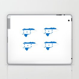 Flag of Honduras 3 -honduran,catracho,tegucigalpa,punta. Laptop & iPad Skin