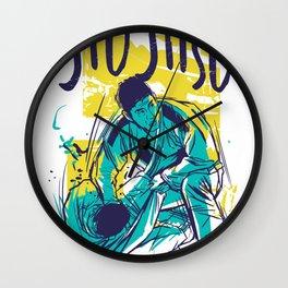 Jiu Jutsu Wall Clock