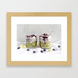 chia pudding Framed Art Print