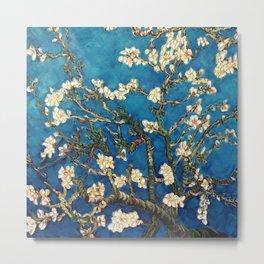 Almond Tree in Blossom - Blue Motif by Vincent van Gogh Metal Print