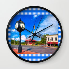 Small town Style - Montezuma Georgia Wall Clock