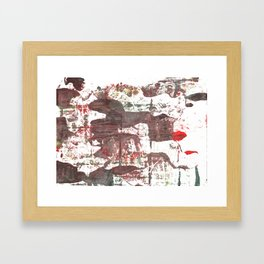 Deep Taupe abstract watercolor Framed Art Print