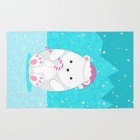 polar bear Area & Throw Rugs featuring Polar bear by eDrawings38