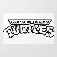 tmnt Area & Throw Rugs featuring TMNT by Unicity
