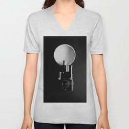 Black and white vintage camera photograph Unisex V-Neck