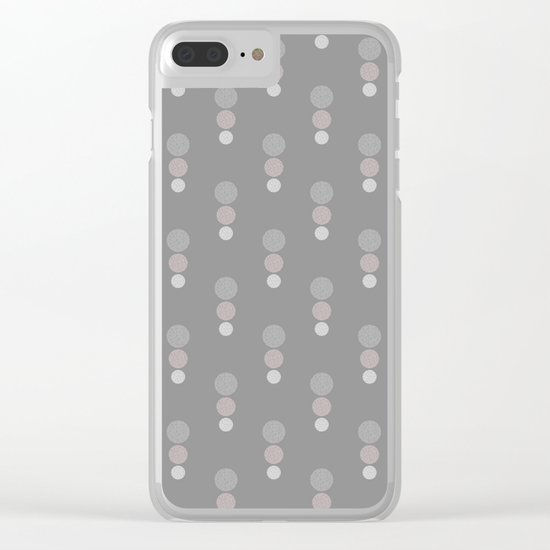 TRIAD  (abstract circles) Clear iPhone Case