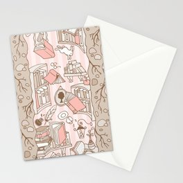 Books: Through the rabbit hole_Pink Cake Stationery Cards