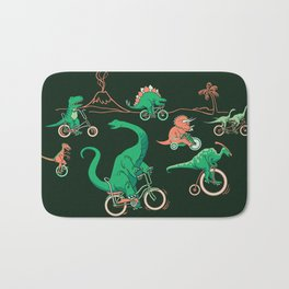 Dinosaurs on Bikes! Bath Mat