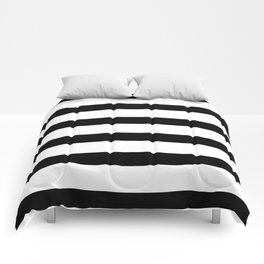 Black and White Horizontal Stripes Comforters