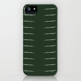 Cross Hatch Repeating - Forest Green iPhone Case