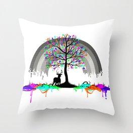 Colorless Raimbow Throw Pillow