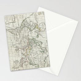 Vintage Map of The World (1784) Stationery Cards