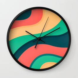 The river, abstract painting Wall Clock